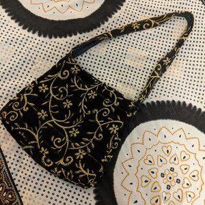 South London Desi Handmade Cloth Bag w Gold Sequin